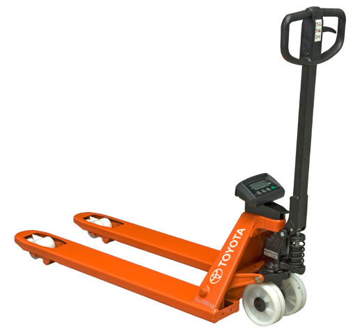 Toyota Bt Lifter Hand Pallet Jack With Weight Indicator Toyota Material Handling Australia S