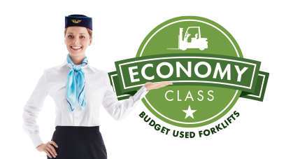 Economy Class for budget used forklifts priced to get the job done