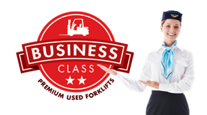 Business Class for premium used pre-owned forklifts